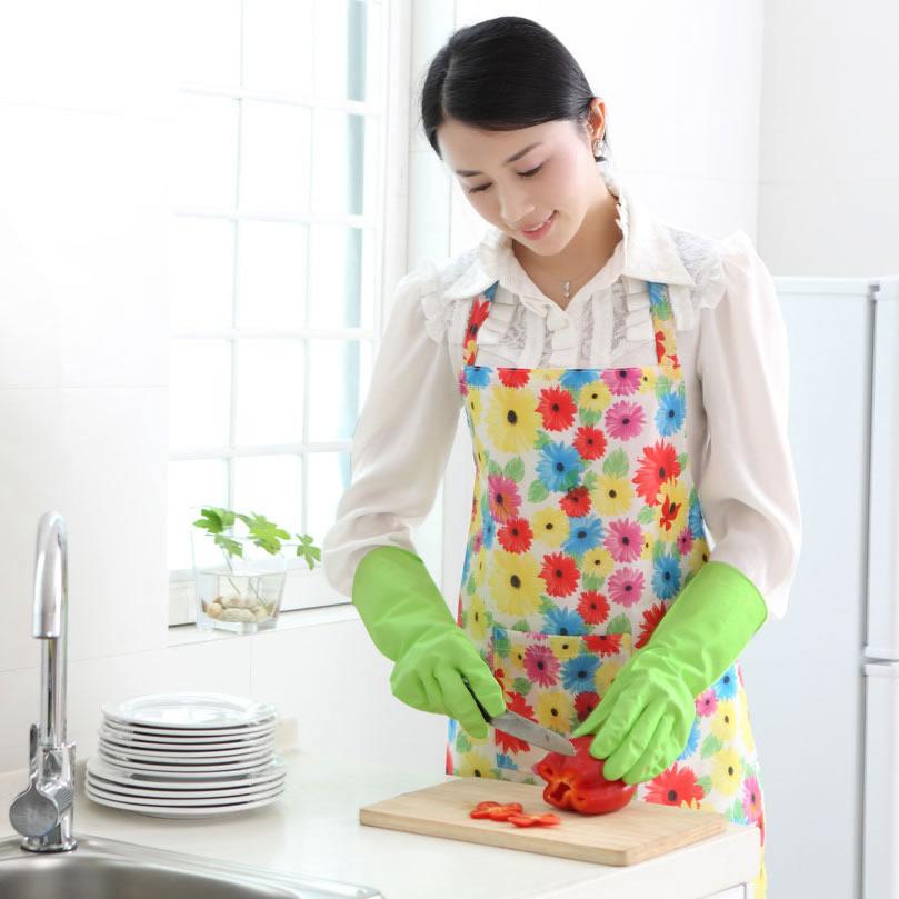 小米妈妈洗碗洗衣家务手套装耐用清洁胶合成乳胶皮手套薄款