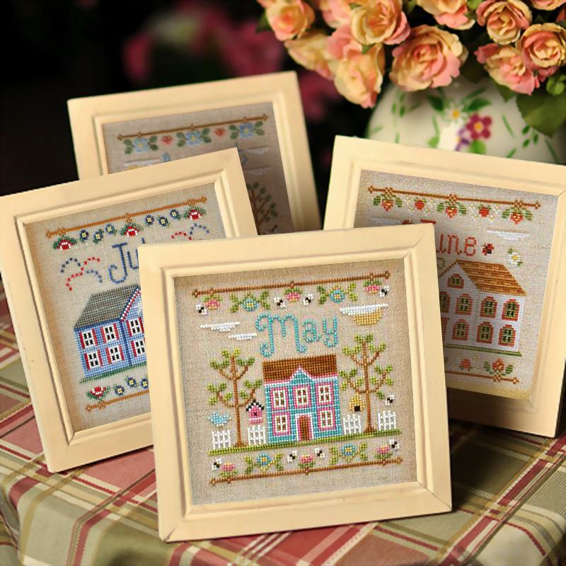 凉风DMC十字绣客厅新款风景欧美杂志款12月小房子我的家印花卧室16.90元包邮
