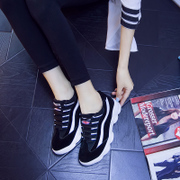 Korea ulzzang2015 autumn new thick-soled platform shoes casual sneaker Korean ladies running shoes wave