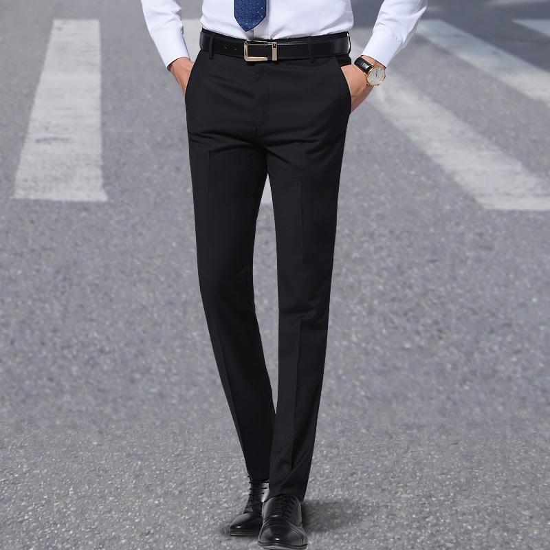 Весна сезон мужской брюки слим типа случайный бизнес в молодежь тонкая модель костюм брюки похвалы официальная одежда брюки сын