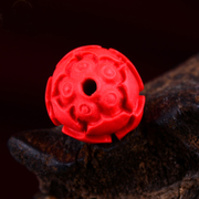 Natural cinnabar cinnabar Lotus loose beads back Lotus beads beads DIY distribution Bodhi son hands dingzhu waist beads