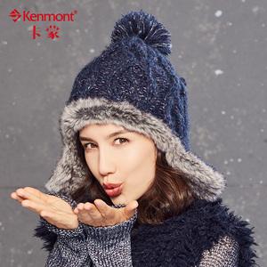 冬天帽子保暖护耳女时尚毛球粗毛线帽韩版潮仿皮草毛绒帽针织帽女