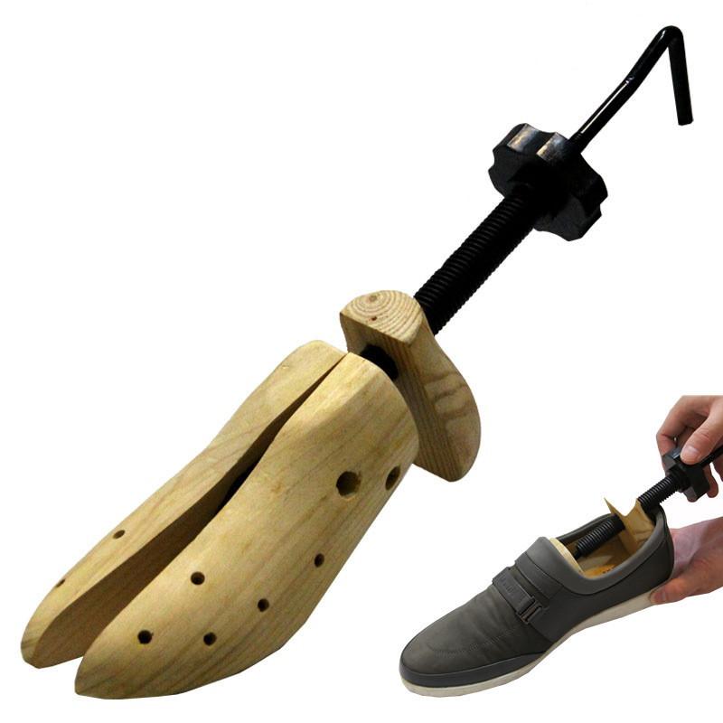 Тонкой твердой древесины сосны обуви Чистка Чистка обуви открывалка повесить это не регулируемые ноги стрейч между мужчинами и женщинами