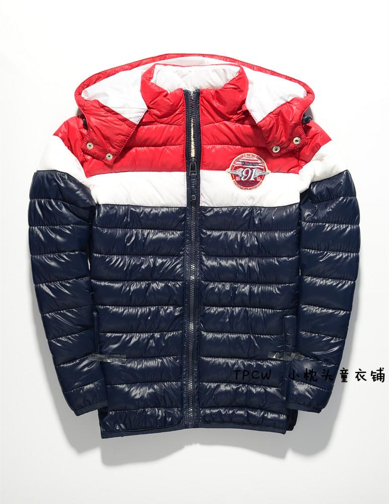 Внешняя торговля оригинальный детей мужского пола мозаики цвета срубить мягкой съемной шляпу осенью и зимой пальто