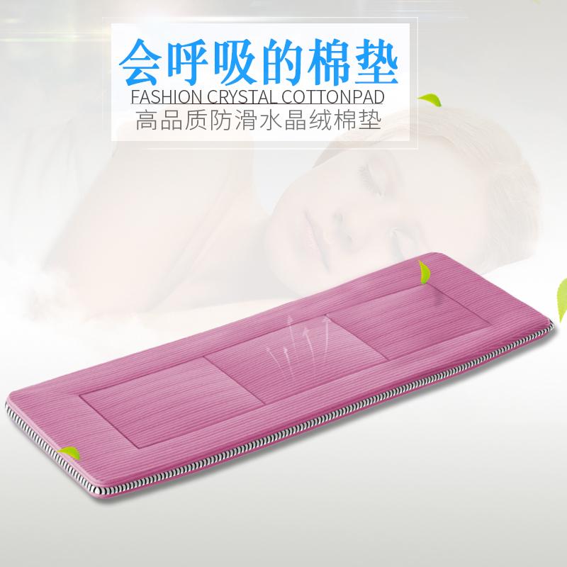 靈鷹辦公室折疊床單人午休午睡床配套豪華水晶絨床墊床褥
