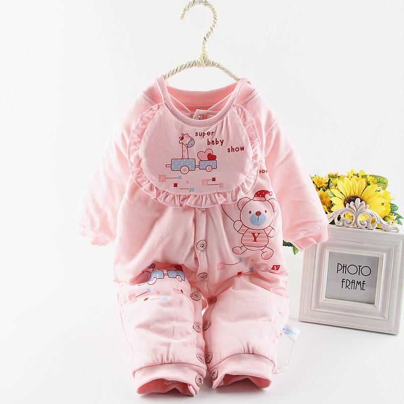 Baby цельный Детская одежда на осень/зимней одежды, чтобы держать теплой осенью пальто толще зима из новорожденных комбинезон