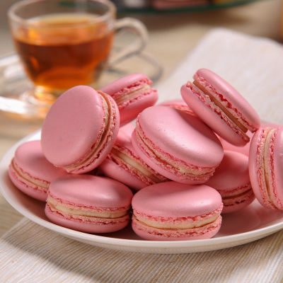 食婶MrsSweet 粉色蜜桃味马卡龙专用链接提供4种规格的包装