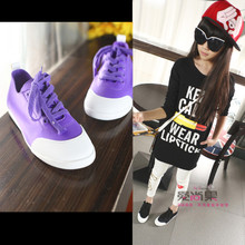 2015 children age season boy girl's cloth shoes candy color casual shoes sandals lycra spandex lazy shoes