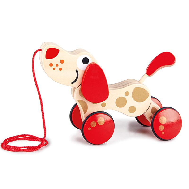 Hape торможение собака юбилейное издание разнообразие моделирование ребенок игрушка ребенок головоломка мужской и женщины ребенок ползунок рука щенок