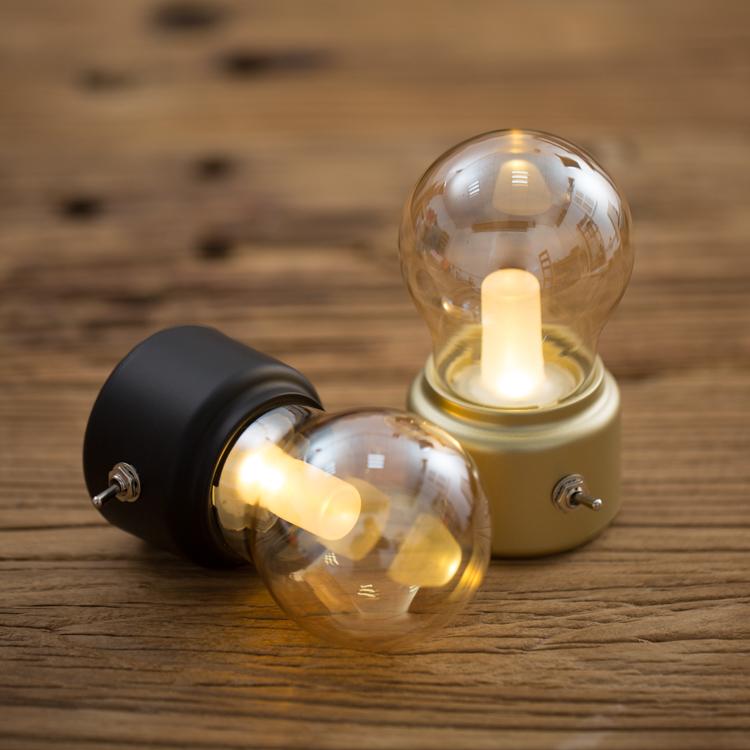 RECESKY творческий подарок ретро англия лампочка свет зарядка ночной свет воспоминания USB прикроватный настольные лампы атмосфера окружать свет