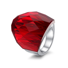 Ring crystal new Europe and the United States sell like hot cakes jewelry fashion jewelry fashion jewelry new latest color personality wholesale