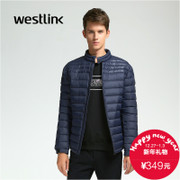 Westlink/West New 2015 winter light down jacket pure color men's casual collar short coat