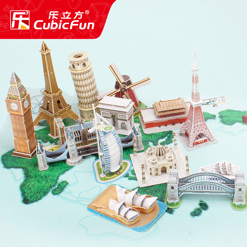 Le Cube building model 3d three-dimensional puzzle children and children early to teach diy hand-stitched toy ideas