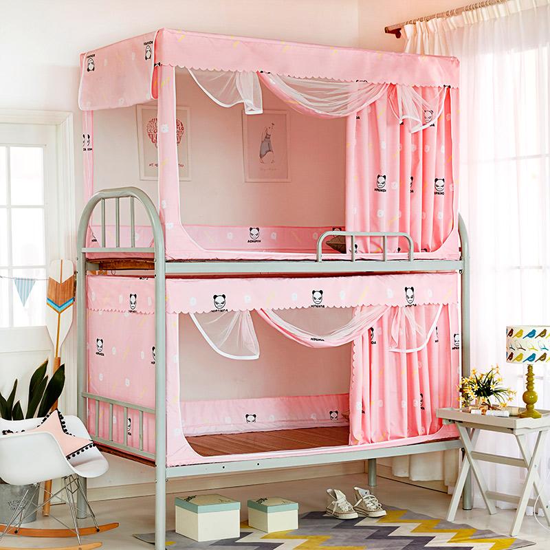 Шторы сетка от комаров университет сырье комната с несколькими кроватями верхняя полка причал сон комната затенение ткань пряжа счет занавес кровать вокруг занавес ребенок