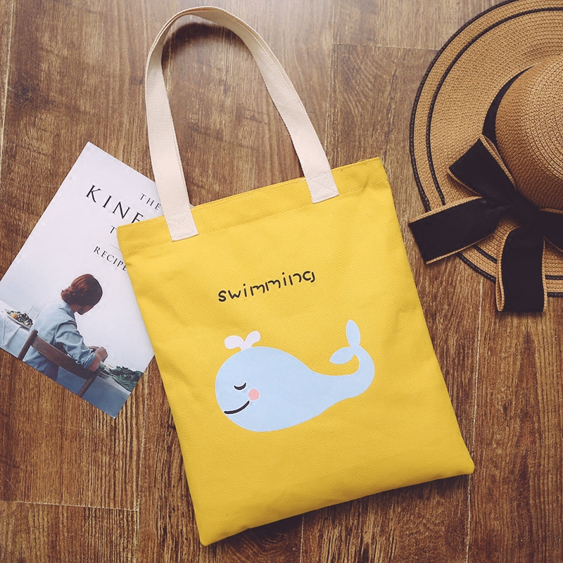 韩版帆布包女文艺单肩包简约百搭手提包原宿学生书包森系购物包袋