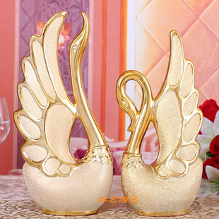 Swan couple gifts ceramic crafts home living room bedroom new house Decoration Wedding Gifts Great Gifts