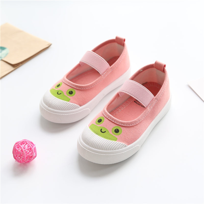 Hanni bear canvas shoes 30-35 size 25-29 Korean cartoon girls casual shoes baby shoes childrens shoes