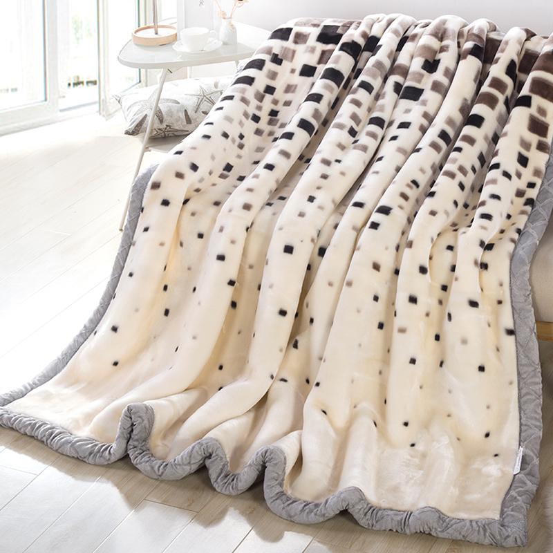 送毛毯~拉舍爾毛毯加厚雙層 蓋毯單人雙人婚慶珊瑚絨毯子保暖