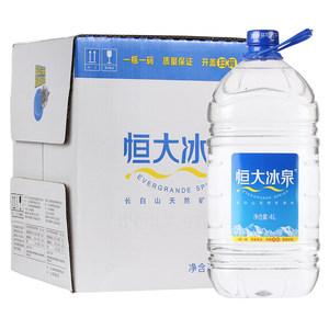 【天猫超市】恒大冰泉 饮用天然矿泉水 4L*4桶/箱 桶装纯净水