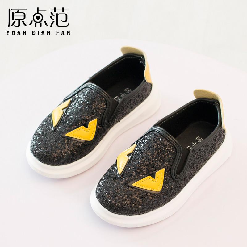 Не вернулся, чтобы увидеть подробности! Корейский досуг детей обувь мальчиков и мало монстров блестками гороха обувь