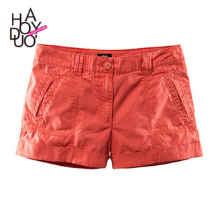 Haoduoyi European and American fashion OL wild female candy multicolour shorts casual pants tide models small low waist shorts