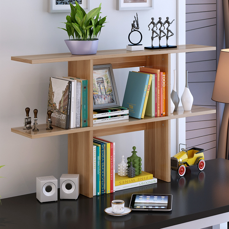 韓麗雅 桌上書架 簡易書架置物架學生桌小書架辦公桌架