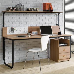 双人长电脑桌台式家...