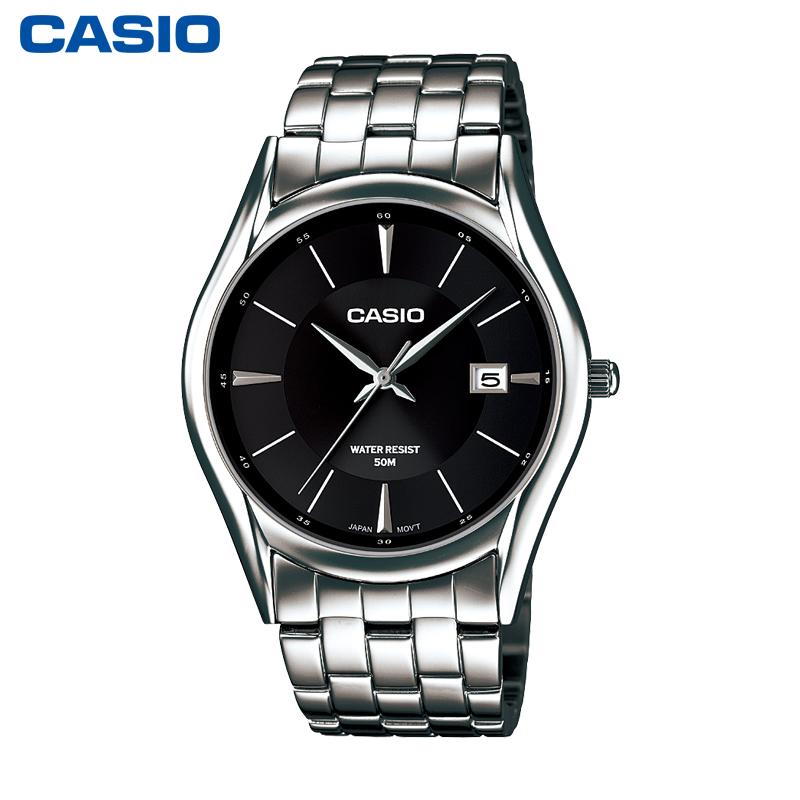 卡西歐MTH~1052D 商務男士手表 簡約 鋼帶石英表