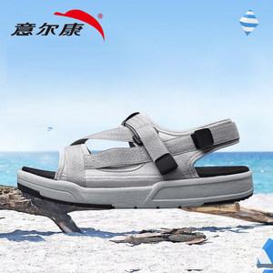 意尔康户外沙滩鞋男士防滑运动休闲凉鞋魔术贴露趾户外凉拖男夏季