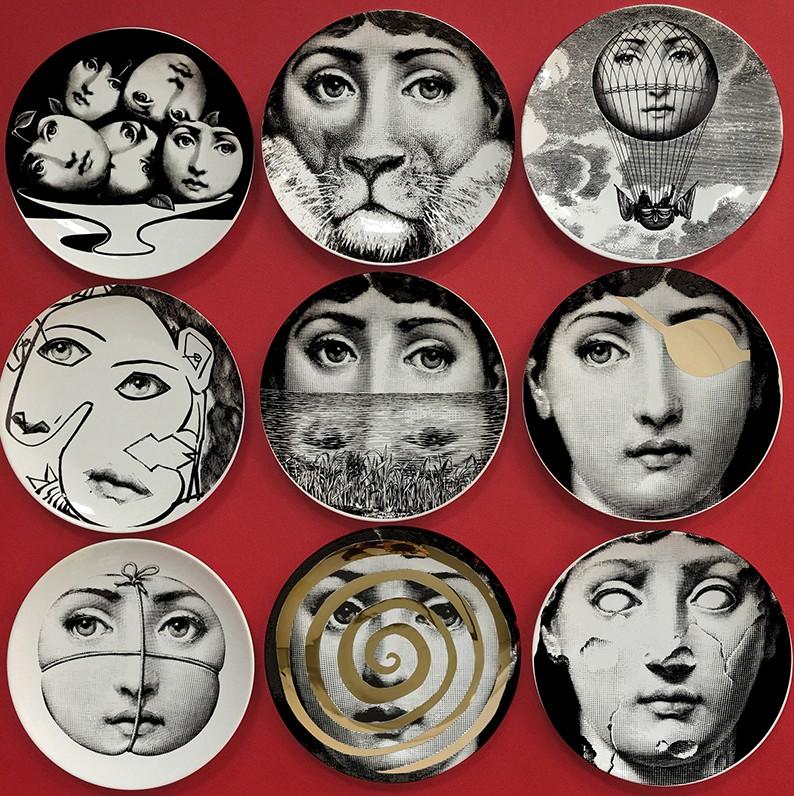 Fornasetti керамического искусства Декоративные настенные тарелки группа настенной модели гостиная кухня украшение