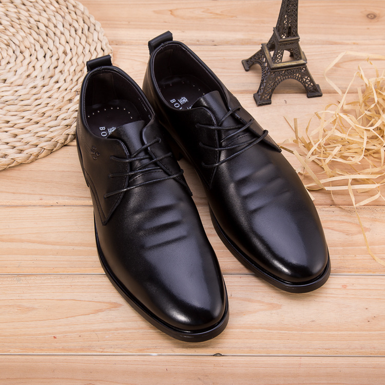 New Castle horse kangaroo casual shoes mens leather leather leather round toe leather shoes British breathable business dress shoes