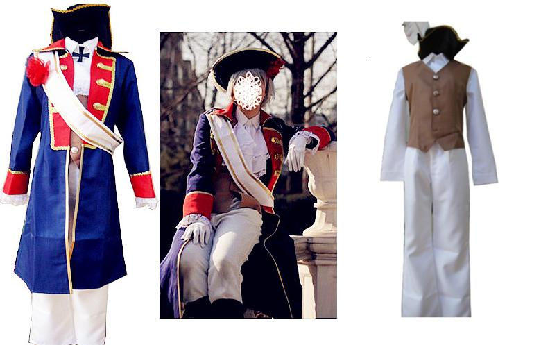 Cosplay animation APH heitalia Prussian seven year war uniform cos clothing custom-made