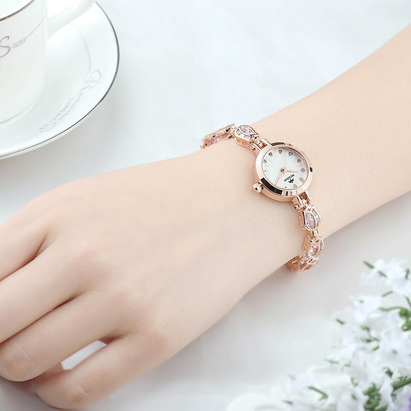 女士手表防水 款女生手表 學生潮女款水鑽表手鏈表女表潮流