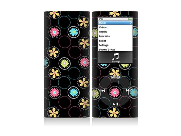 苹果 iPod nano4 插画团案 装饰彩膜 炫彩贴纸 保护贴膜 可定制