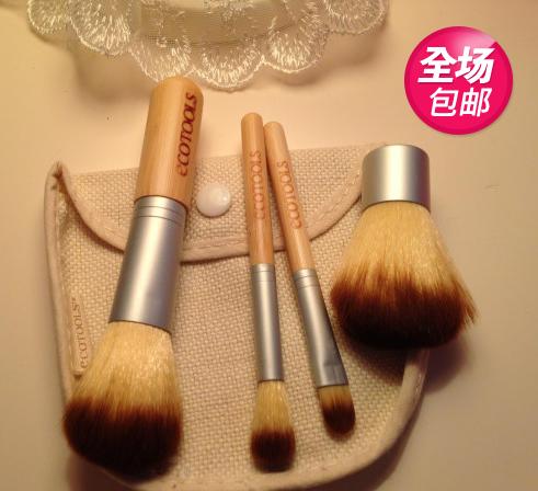Подлинная EcoTools 5 шт макияж кисти установить косметика макияж глаз Тень кисти и инструменты Кисть для губ румяна кистью брови окрашены
