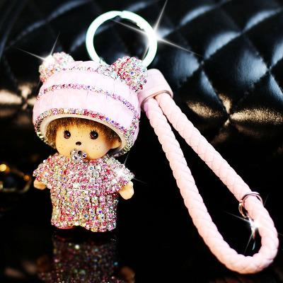 蒙奇奇编织钥匙扣/材料包 DIY手工制作包 手机壳汽车钥匙挂件