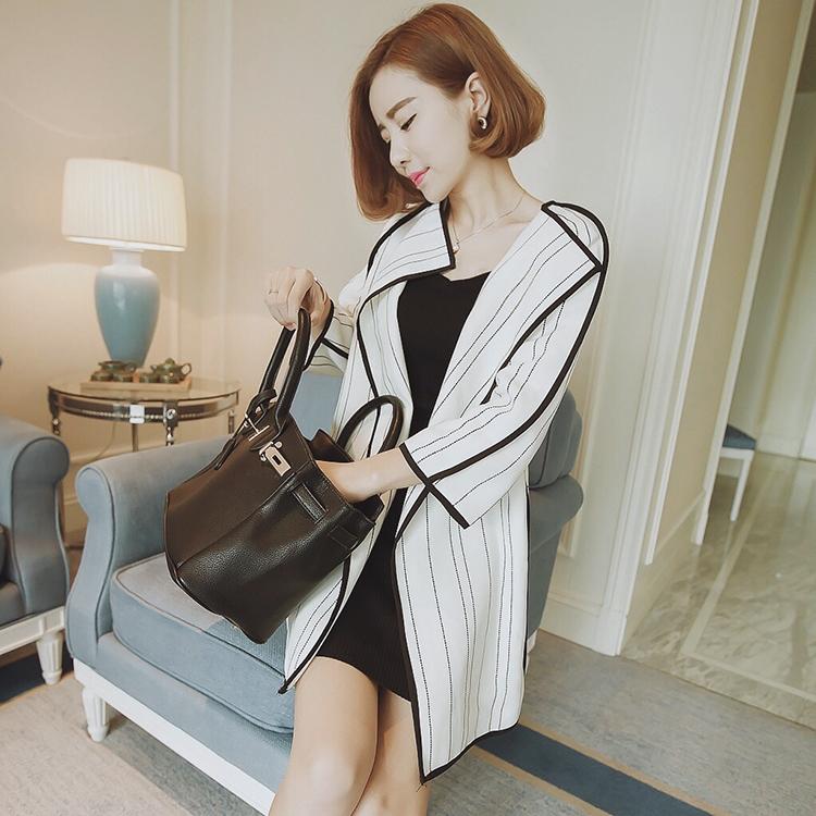 Долго женщин ветровка в 2015 году весной загружен новый Бакскин женский Корейский self тонкий кашемир пальто плюс размер женской одежды