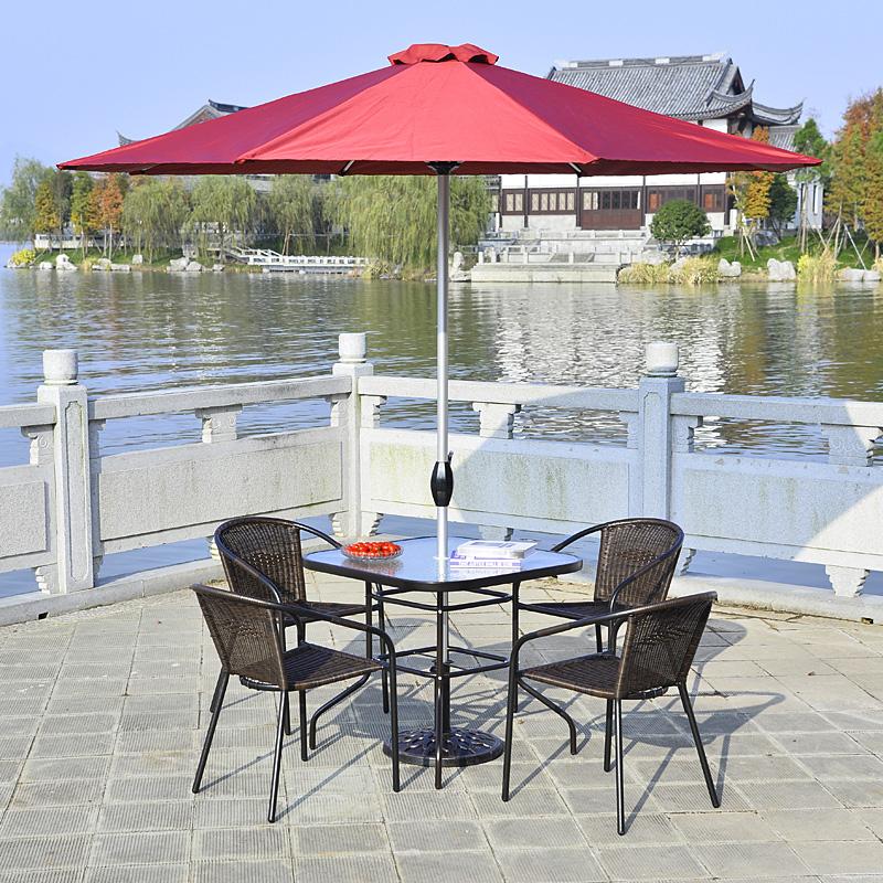 庭院戶外桌椅藤椅 椅子藤椅室外陽台藤編 三套件五件套