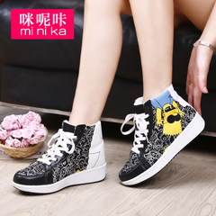 MI Ka fall 2015 cartoon new Korean version flows increased casual women's shoes shoes high top sneakers