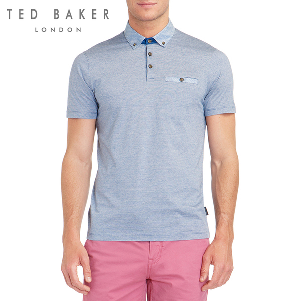 TED BAKER new winter men's fashion men's British style short-sleeved polo shirt