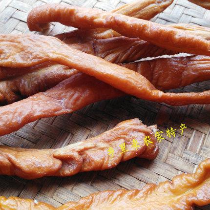 烟熏猪大肠 湖南特产柴火烘腊肠 腊肥肠衡阳常宁猪大肠满两件包邮