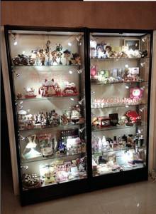 精品模型展示柜樂高兵人展示柜玻璃手辦高達展柜玩具家用汽車模型