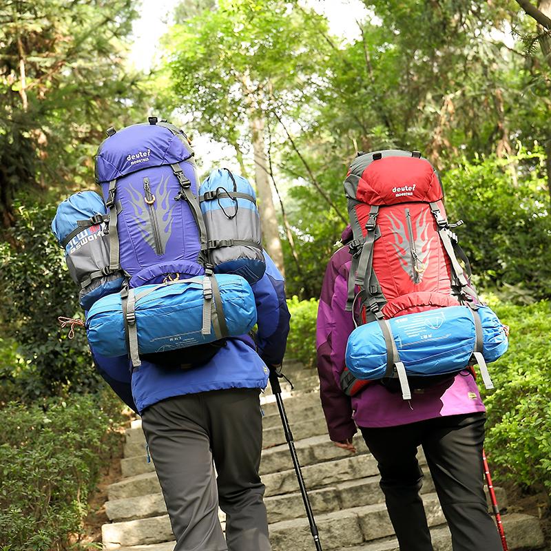 Mountaineering bag double shoulder mens outdoor 60l70l liter large capacity waterproof Travel Backpack mens and womens double shoulder hiking bag