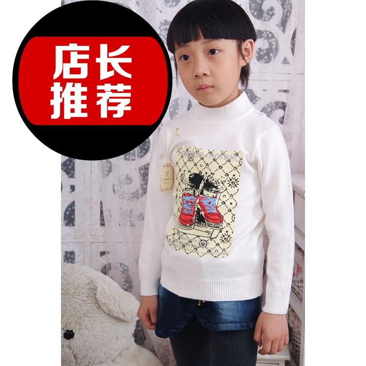 【】2012冬款女童衣 男童冬季新款衣 儿童线衫韩版童装新款