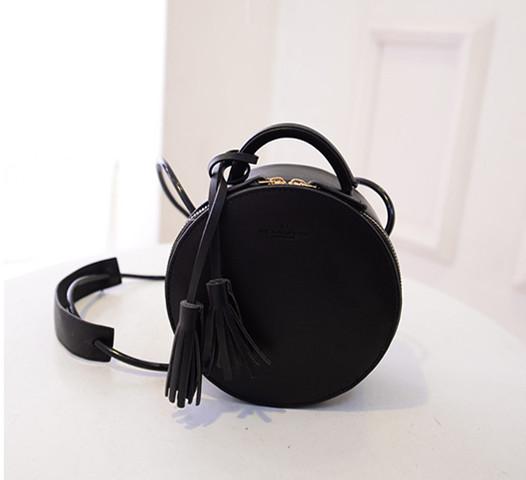 «Ежедневные specials» Корейский кисточкой мини-мешок мини ретро круглый ведро сумочка плечо сумка сумочка приливные