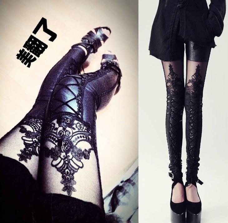 Новый оригинальный шнурка вышитые шить девять Dan Pengke ветра штаны леггинсы привязки кожи