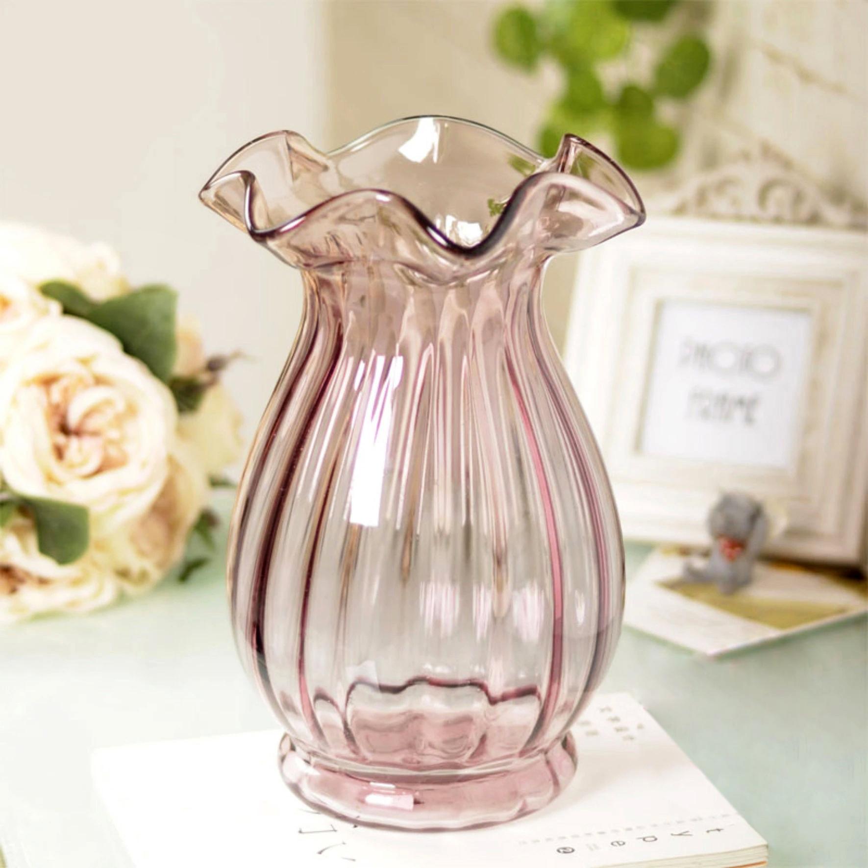 Bolloc'h континентальный цветочный стеклянная ваза стол комнаты украшения корабль части пакета почты