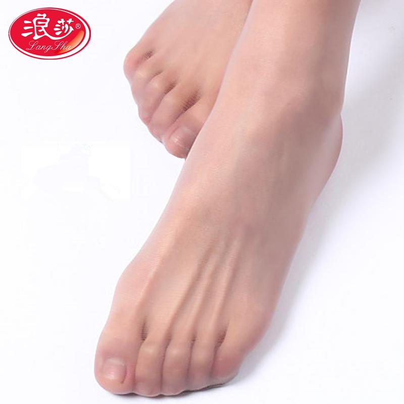 浪莎超薄款性感隐形连裤袜 足指尖透明无痕丝袜女装加大码长筒袜