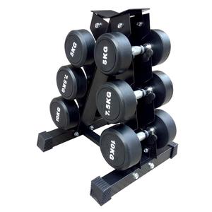 钢制哑铃架子家用4对装哑铃架商用哑铃架6对装健身房小哑铃架