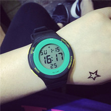 Ou yi South Korea fashion sports girls high school boys running waterproof outdoor multi-function digital watches